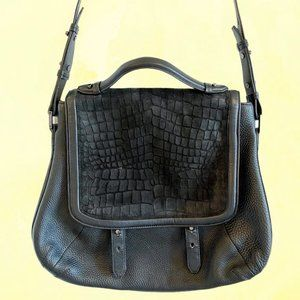 Mackage Carrie large black leather satchel